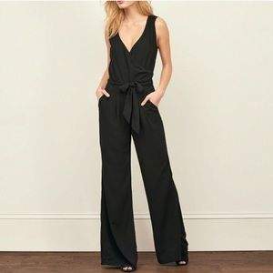 Abercrombie Black Wide Leg Jumpsuit